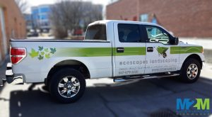 Vaughan Sign Company Ecoscape Landscaping Truck Wrap wM2M 300x165